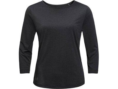 "JACKWOLFSKIN Damen Shirt ""JWP T"" 3/4-Arm Schwarz"