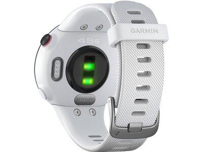"""GARMIN GPS-Laufuhr """"Forerunner 45 S"""" weißes Armband Schwarz"""