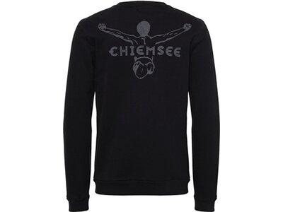 CHIEMSEE Sweatshirt einfarbig mit Logo Schwarz