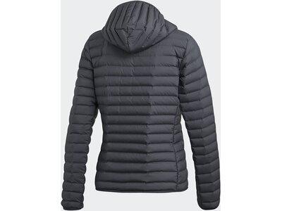 adidas Damen Varilite Soft Hooded Jacke Grau