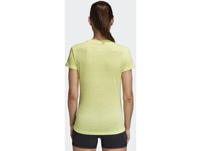 ADIDAS Damen T-Shirt FreeLift Prime Gelb