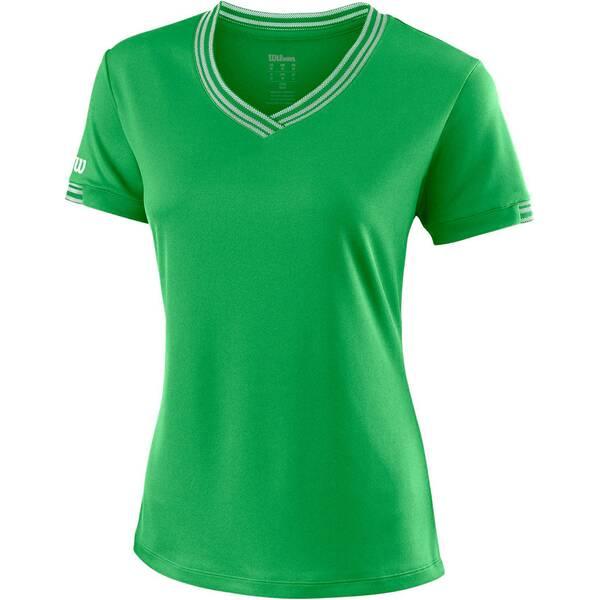 """WILSON Damen Tennisshirt """"Team V-Neck"""" Kurzarm"""