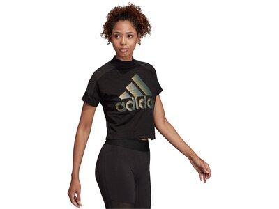 "ADIDAS Damen Fitness-Shirt ""Glam Tee"" Schwarz"