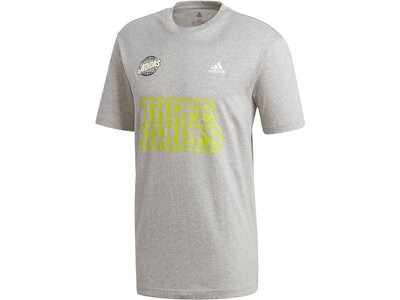 "ADIDAS Herren T-Shirt ""Lucky 8 Graphic"" Grau"