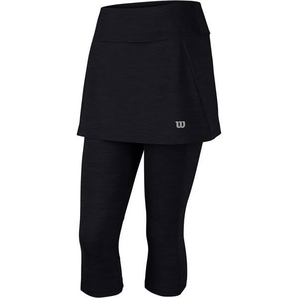WILSON Damen Tennisrock / Tennisskort Rush Capri Skort II | Sportbekleidung > Sportröcke > Tennisröcke | Black | Wilson