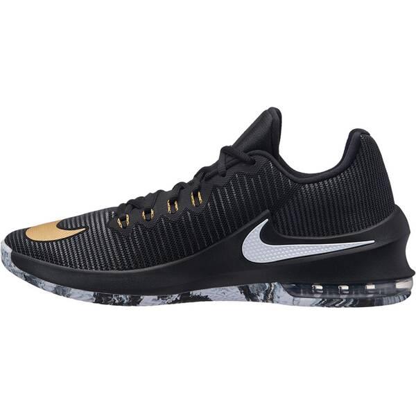 NIKE Herren Basketballschuhe Air Max Infuriate 2 Low   Schuhe > Sportschuhe > Basketballschuhe   Black - Metallic - Gold - Anthracite   Nike