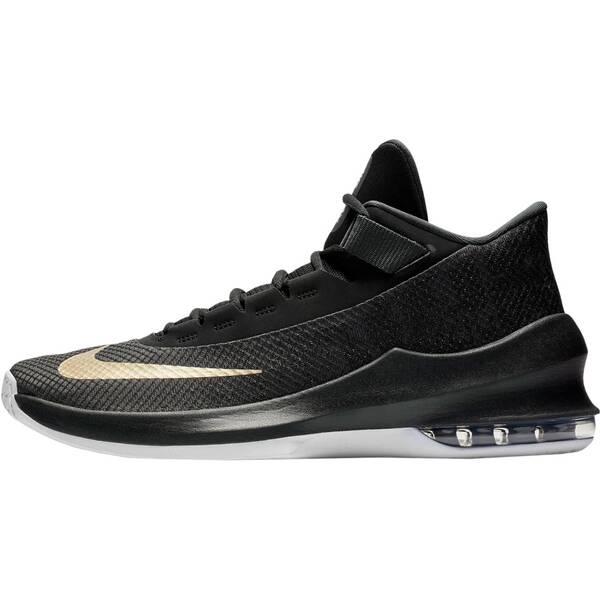 NIKE Herren Basketballschuhe Air Max Infuriate 2 Mid | Schuhe > Sportschuhe > Basketballschuhe | Anthracite - Metallic - Gold - Black | Nike