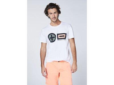 CHIEMSEE T-Shirt Frontprint im PlusMinus-Design - GOTS zertifiziert Weiß