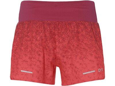 ASICS Damen Laufshorts Rot