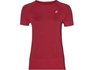 """ASICS Damen Laufshirt """"Seamless Texture"""" Kurzarm Rot"""