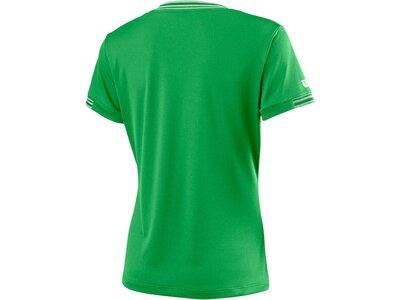 """WILSON Damen Tennisshirt """"Team V-Neck"""" Kurzarm Grün"""