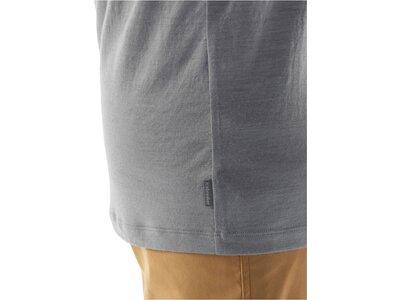 "ICEBREAKER Merino Herren Outdoor-Shirt ""Tech Lite Short Sleeve Crewe Surfspot Camper"" Kurzarm Grau"