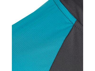 TAO Nachhaltiges Damen Funktions kurzarm Zip-Shirt HANAMI Grau