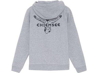 CHIEMSEE Kinder Sweatjacke einfarbig mit Logo Grau
