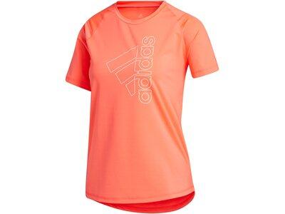 ADIDAS Lifestyle - Textilien - T-Shirts Tech Badge of Sport T-Shirt Damen Rot