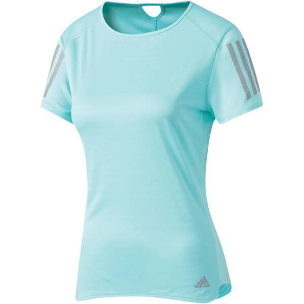 ADIDAS Damen Laufshirt Response Short Sleeve Tee Blau