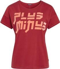 CHIEMSEE T-Shirt mit samtigem PlusMinus-Logo auf der Vorderseite - GOTS zertifiziert