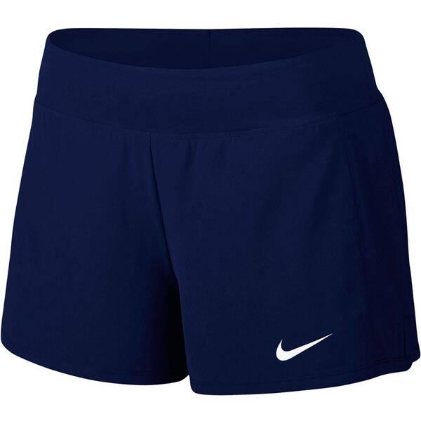 NIKE Damen Tennisshorts Court Flex Pure Tennis Shorts | Sportbekleidung > Sporthosen > Tennisshorts | Blue - White | Baumwolle - Polyester | NIKE