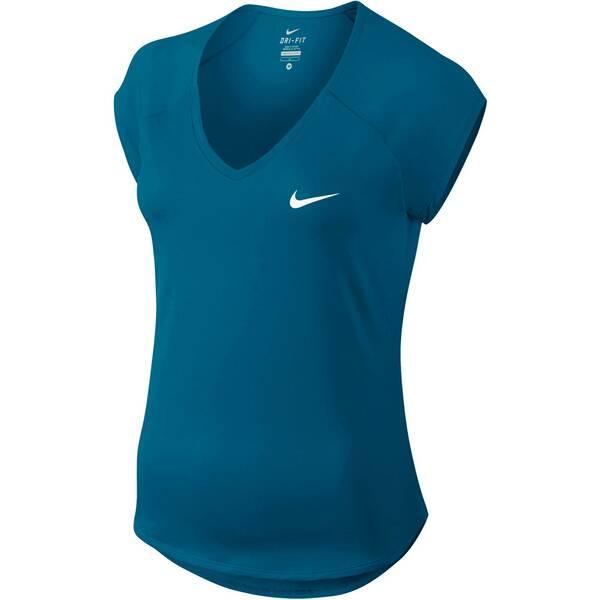 NIKE Damen Tennisshirt Pure Kurzarm | Sportbekleidung > Sportshirts > Tennisshirts | White | Nike