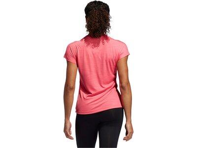 ADIDAS Damen Trainingsshirt Kurzarm Pink