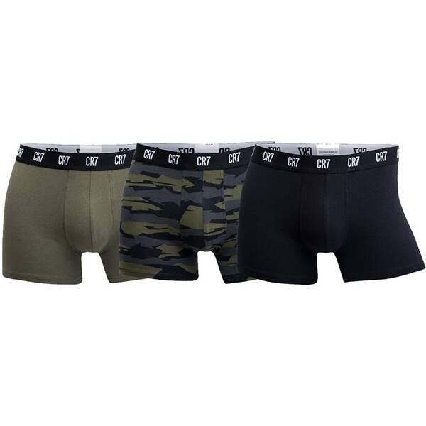 CR7 Underwear - Boxershorts Basic Trunk AOP Boxershort 3er Pack