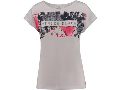 VENICE BEACH Damen Trainingsshirt Tiana Kurzarm Weiß