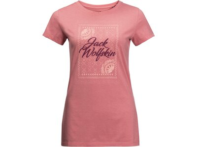 """JACKWOLFSKIN Damen Outdoor-Shirt """"Sea Breeze T Women"""" Kurzarm Pink"""