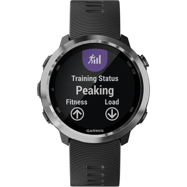 """GARMIN GPS-Laufuhr mit Musik """"Forerunner 645 Music"""" Schieferfarben mit schwarzem Armband"""