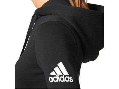 "ADIDAS Damen Sweatjacke ""Essentials Solid Fullzip Hoodie"" Langarm Schwarz"