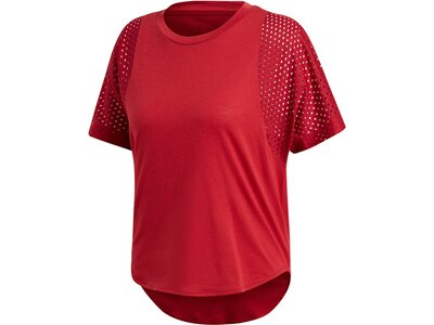 "ADIDAS Damen Trainingsshirt ""ID Mesh"" Rot"