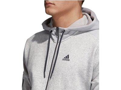 "ADIDAS Herren Sweatjacke ""Sport ID Logo Fleece Full-Zip Hoodie French Terry"" Grau"