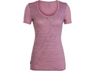 """ICEBREAKER Damen Outdoor-Shirt """"Spector S/S Scoop NZ Relief"""" Pink"""