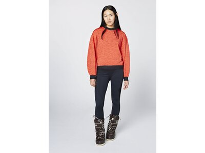 CHIEMSEE Fleece Pullover im Oversize Look Rot