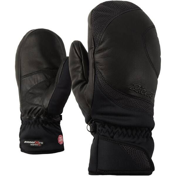 ZIENER Damen Skihandschuhe / Skifäustlinge Kokomo GWS PR Mitten Lady | Accessoires > Handschuhe > Fäustlinge | Black | As - Leder | ZIENER