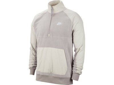NIKE Herren Fitness-Fleecesweatshirt Grau