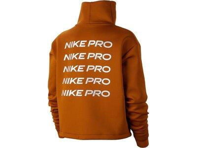 """NIKE Damen Sweatshirt """"Pro"""" Braun"""