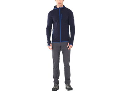 "ICEBREAKER Herren Fleecejacke ""Descender"" Slim Fit Schwarz"