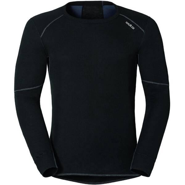 ODLO Herren Unterhemd SHIRT L/S CREW NECK X-WARM, Größe M in Schwarz