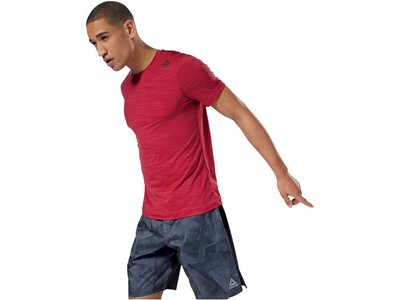REEBOK Herren Trainingsshirt Kurzarm Rot