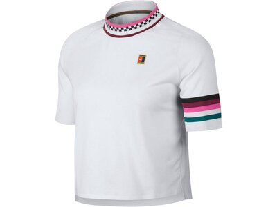 "NIKE Damen Tennisshirt ""Breathe Slam"" Kurzarm Grau"