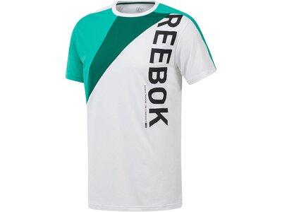 REEBOK Herren Trainingsshirt Kurzarm Weiß