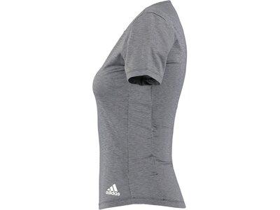 ADIDAS Damen Trainingsshirt Kurzarm Grau