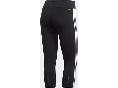 ADIDAS Damen Design 2 Move 3-Streifen 3/4-Tight Schwarz