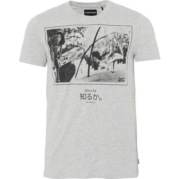 CHIEMSEE T-Shirt mit Fotoprint - GOTS zertifiziert Grau