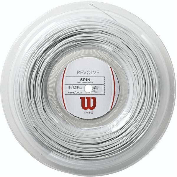 WILSON Tennissaite Revolve 16/1.35mm 200m Rolle white