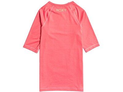 ROXY Kinder Kurzärmliger Rashguard mit UPF 50 Beach Classics Pink