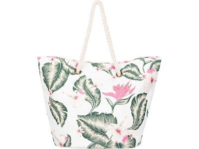 ROXY Damen Strandtasche aus Stroh Sunseeker 30L Weiß