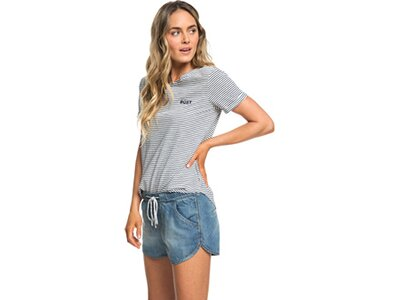 ROXY Damen Beach Jeansshorts Music Never Stop Blau