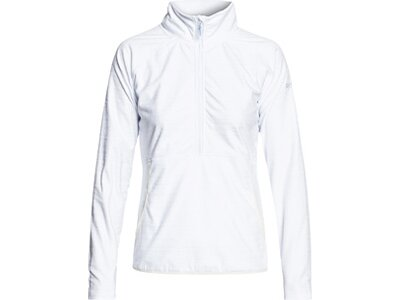 ROXY Damen Funktions-Fleece mit Halbreißverschluss Cascade Weiß
