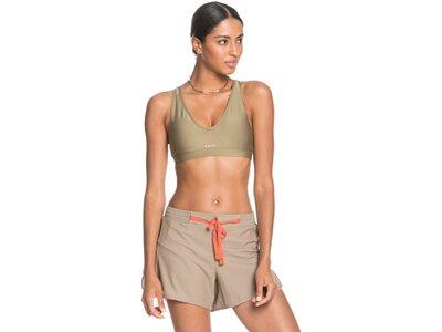 ROXY Damen Workout-Shorts Freestyle Session Braun